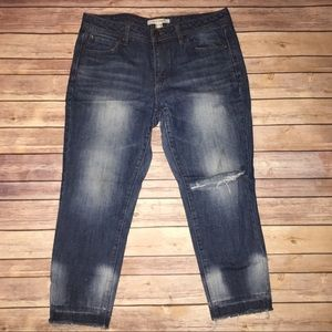 Forever21 Life In Progress Distress Ankle BF Jean